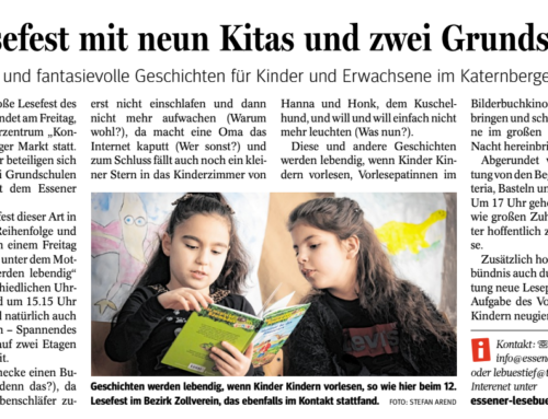 "13. Lesefest im Katernberger ""KonTakt"""
