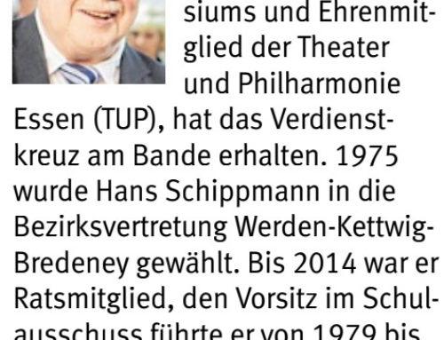 1. Vorsitzender erhält Bundesverdienstkreuz